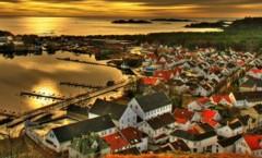 Bilde av Mandal tatt fra Uranienborg