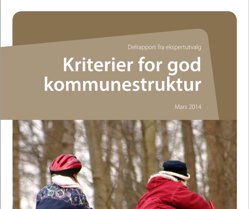 Forside ekspertuvalgets delrapport om kommunestruktur